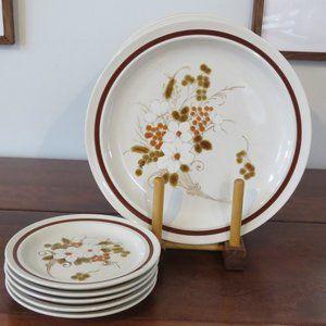 Stoneware Plates, Autumn Bouquet by Four Seasons